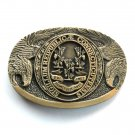 Connecticut Vintage First Edition Award Design brass belt buckle