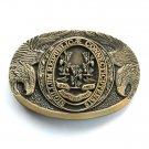 Connecticut Vintage First Edition Award Design brass belt buckle