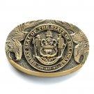 Delaware Vintage First Edition Award Design brass belt buckle