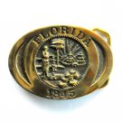 Florida State Seal Vintage Heritage Mint JE 4383 Solid Brass Belt Buckle
