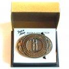 Tony Lama Vintage State Of Kentucky solid brass belt buckle
