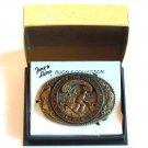 Tony Lama Vintage State Of Minnesota solid brass belt buckle