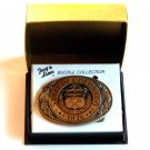 Tony Lama State Of Colorado Vintage Solid Brass Belt Buckle