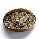 American Bald Eagle Vintage Montana Silversmiths Brass Standard Small Belt Buckle