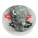 Buffalo Head 3D Siskiyou pewter belt buckle