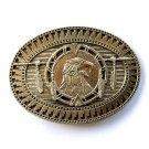 Tribal Native American Art Eagle Vintage Award Design Solid Brass belt buckle