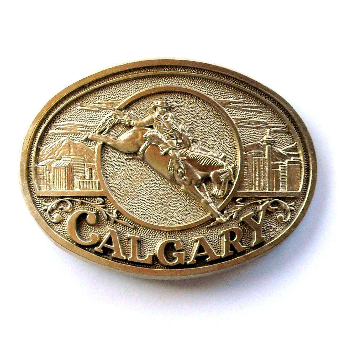 Calgary Stampede Rodeo Award Design Solid Brass Belt Buckle