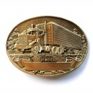 Big Rig 18 Wheeler Handle Award Design Solid Brass Belt Buckle
