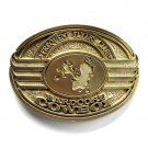 Bull Rider Frequent Flyers Club Hardcore Cowboy Award Design Solid brass belt buckle