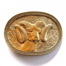 Bighorn Ram Vintage Award Design Solid Brass belt buckle