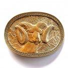 Bighorn Ram Vintage Award Design Solid Brass belt buckle