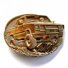 4x4 Off Road PickUp Truck Vintage Award Design Solid Brass Belt Buckle