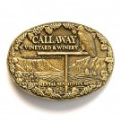 Callaway Vineyard Winery Award Design Solid Brass belt buckle