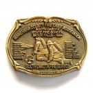 Minnehaha South Dakota Fire Service Award Design Solid Brass Belt Buckle