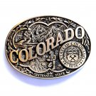Colorado Centennial State Award Design Solid Brass First Edition Belt Buckle