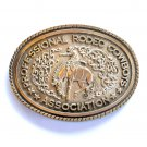 Professional Rodeo Cowboys Association Montana Silversmiths Solid Brass Large Belt Buckle