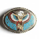 Western Native American Eagle Dancer Handcrafted Silver color SSI belt buckle