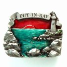 Put In Bay Bergamot Vintage Pewter Belt Buckle