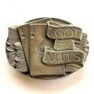 I Got The Nuts 3D Bergamot Solid Alloy belt buckle