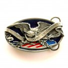 I'm Proud To Be An American 3D Color Bergamot Solid Alloy belt buckle