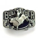 Bull Rider Western 3D Color C & J Solid American Made belt buckle