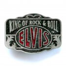 Elvis King Of Rock & Roll Color Bergamot American Made Belt Buckle