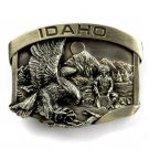 Idaho Eagle Gold Panning Vintage Bergamot 3D Pewter Belt Buckle