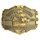 Livingston Wells Foreign Domestic Gold Dealers belt buckle