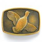 Quail Bird Vintage BTS Solid Brass Belt Buckle