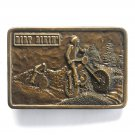 Dirt Biking Vintage Bergamot Brass Color Belt Buckle