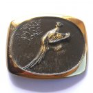 Flying Fasan Pheasant 3D Steven L Knight Bronze Vintage belt buckle
