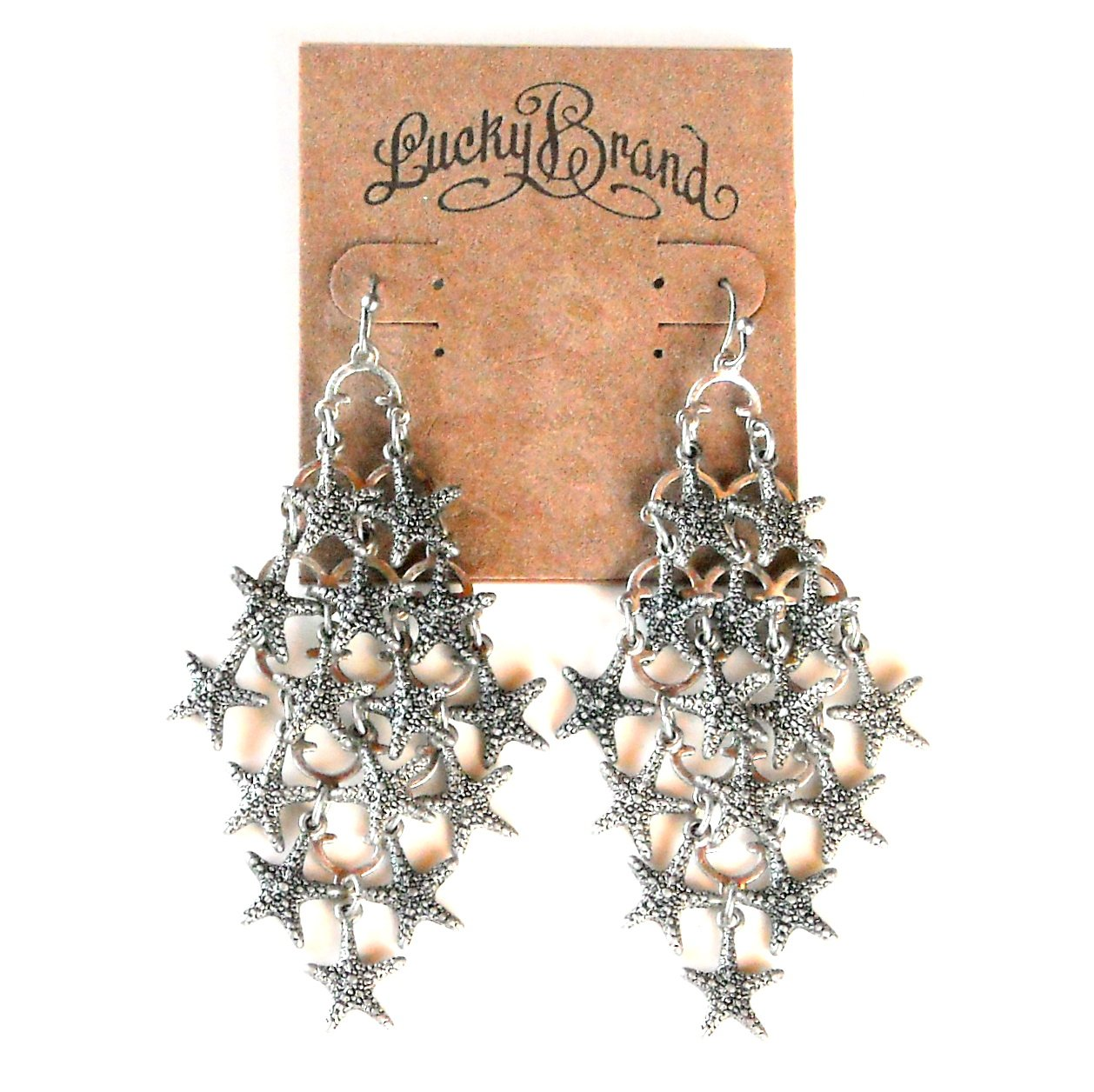 Starfish Silver Color Lucky Brand Chandelier earrings