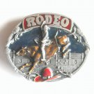 Western Bull Rider Rodeo Siskiyou 3D Pewter Belt Buckle