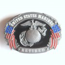 United States Marines Retired Military Siskiyou pewter belt buckle