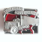 Truckers Move America 3D Siskiyou pewter belt buckle