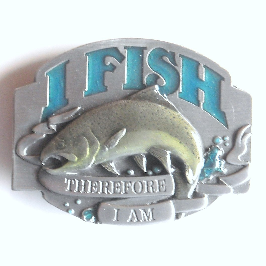 I'd Rather Be Fishing I Fish 3D Siskiyou Pewter Belt Buckle