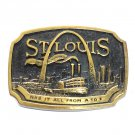 St Louis 3D Vintage Edition B173 Heritage Mint Solid Brass Belt Buckle