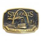 St Louis 3D Vintage Edition B173 Heritage Mint Solid Brass Belt Buckle