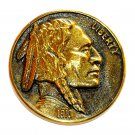 Indian Head Coin 3D Vintage Heritage Mint Solid Brass Round Belt Buckle