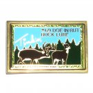 Buck Lure Tinks 69 Doe In Rut Vintage Solid Brass Belt Buckle