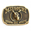 Missouri Show Me State Vintage Edition 0651 Heritage Mint Solid Brass Belt Buckle