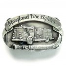 Maryland Fire Fighter 3D Pewter Alloy Vintage Belt Buckle
