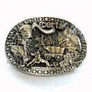 Alberta Canada Award Design Brass Oval American Made Belt Buckle