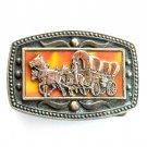 Wagon Train CII New York brass belt buckle