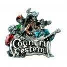 Cape Blanco Country Western Boys 3D Pewter American belt buckle