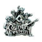 Country Western Oregon Music Festival Band Bergamot 3D Pewter Belt Buckle
