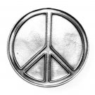 Peace Love Symbol Sign Bergamot Made In USA Pewter belt buckle