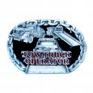 Tow Truck Operator Color C & J Made In USA Pewter belt buckle