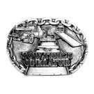 Tow Truck Operator C & J Made In USA Pewter belt buckle