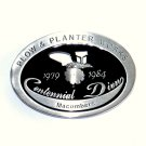 John Deere Plow & Planter Works Macombers Pewter Belt Buckle